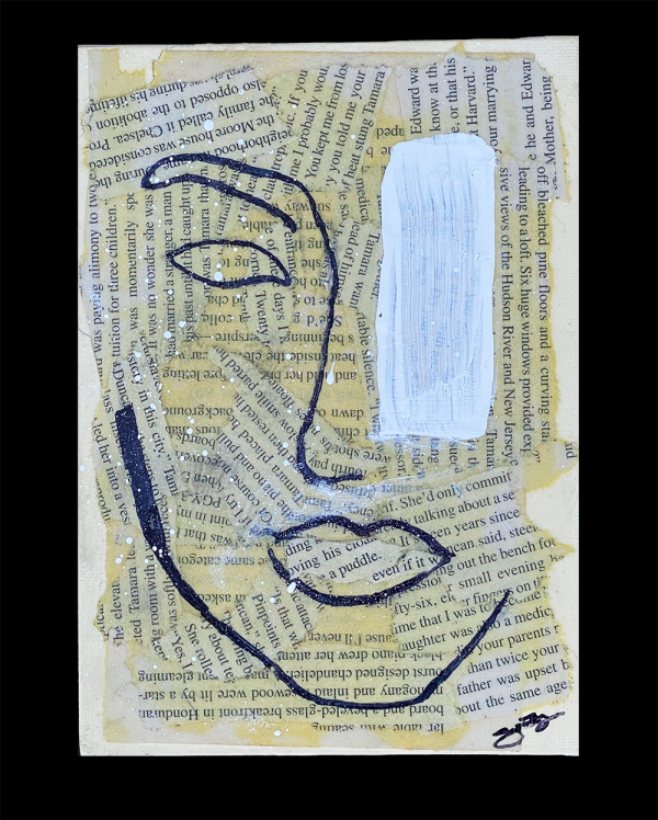 Abstract Vogue Over Random Words 5x7