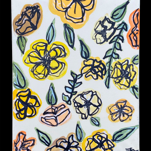 Colorful Floral Collage 8x10